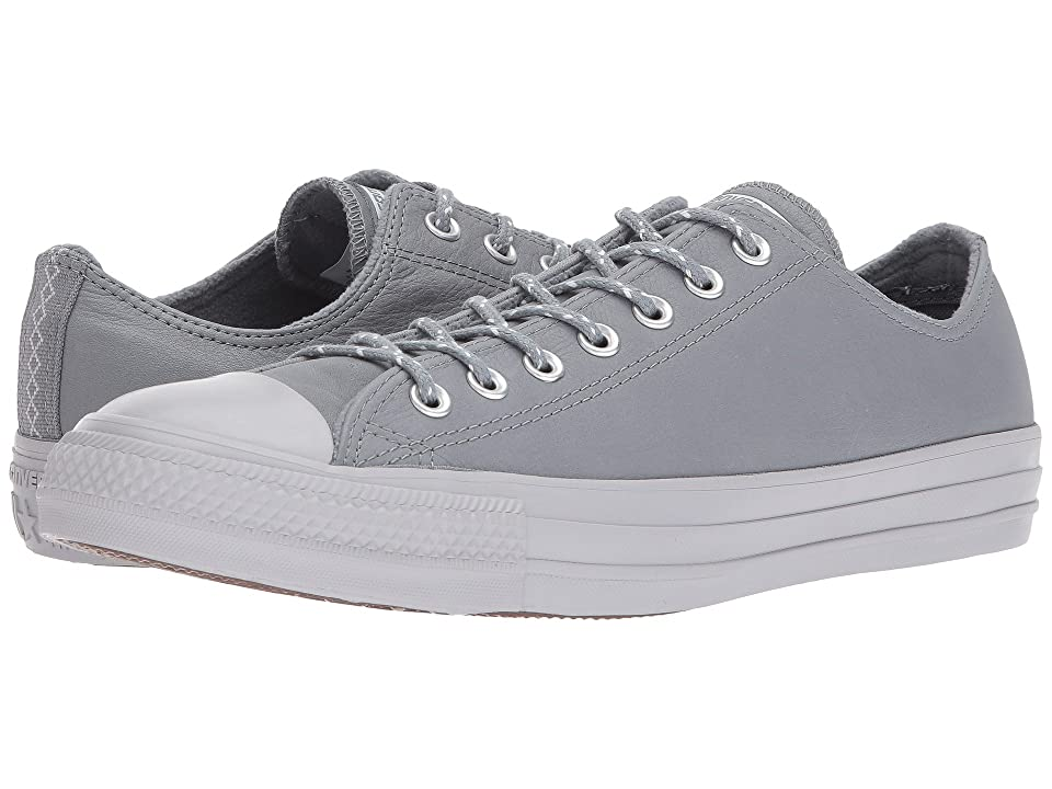 Converse Chuck Taylor(r) All Star(r) Leather w/ Thermal Ox (Cool Grey/Pure Platinum) Classic Shoes