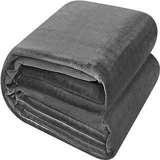 Utopia Bedding Fleece Blanket King Size Grey Luxury Bed Blanket Fuzzy Soft Blanket Microfiber