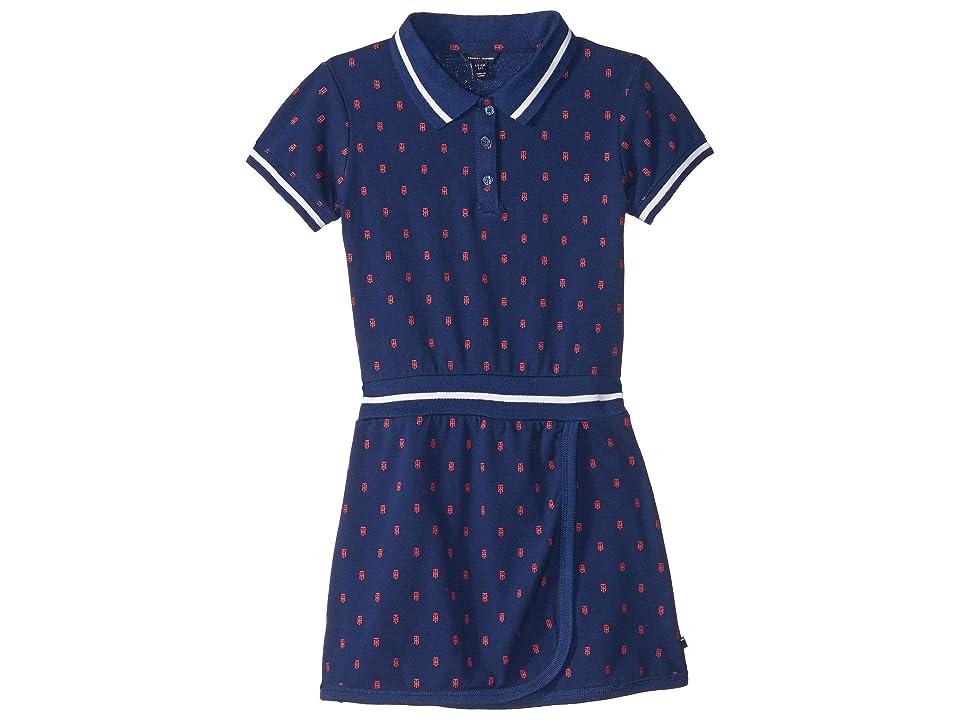Tommy Hilfiger Kids Printed Polo Dress (Big Kids) (Flag Blue) Girl