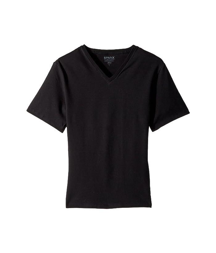 Spanx for Men Cotton Compression V-Neck (Black) Men
