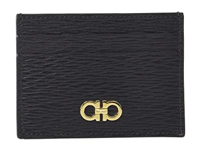 Salvatore Ferragamo Revival Gancio Card Holder 66A387 (Black) Credit card Wallet