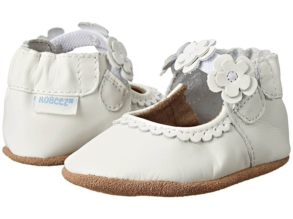 Robeez Claire Mary Jane Soft Soles (Infant/Todler) (White) Girl