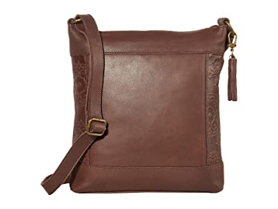 The Sak Ladera Crossbody by The Sak Collective (Mahogany Embossed) Handbags