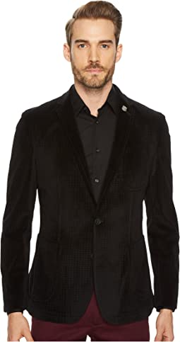 Saturn Coal Velvet Houndstooth Sport Coat