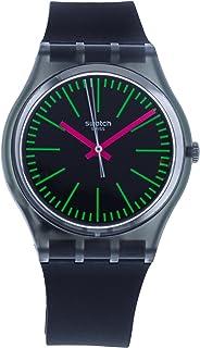 Swatch Fluo Loopy GM189 Black Silicone Quartz Fashion Watch