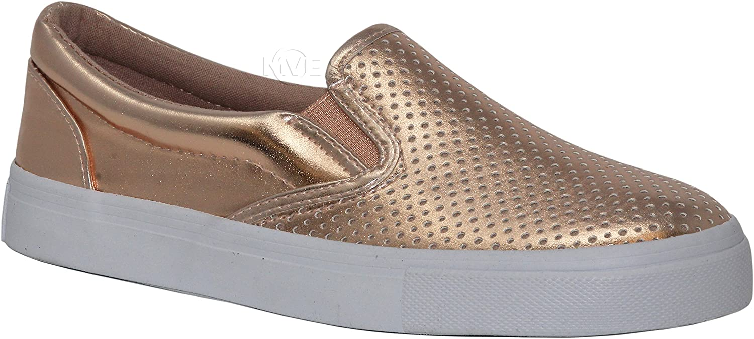 MVE shoes Women's Perforated Slip-On Fashion Sneaker