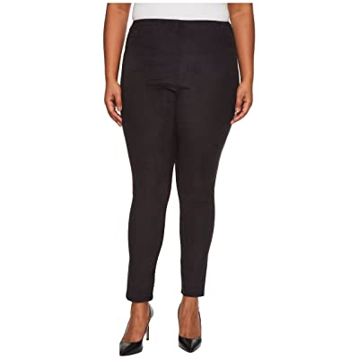 Lysse Plus Size High-Waist Suede Leggings (Black) Women