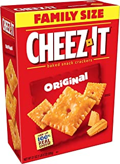 Cheez-It Original Cheese Crackers - School Lunch Food, Baked Snack, Bulk Size, 21 oz Box (Pack of 3)