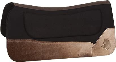 AceRugs Western Leather Felt Horse Saddle PAD Therapeutic Contour Shock Gel Infused PAD Blanket Orthopedic