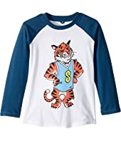 Stella McCartney Kids - Max Stella Tiger Mascot Raglan Tee (Toddler/Little Kids/Big Kids)