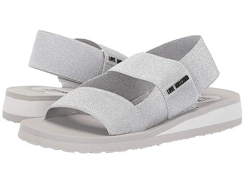 LOVE Moschino Elastic Bicolor Sandal