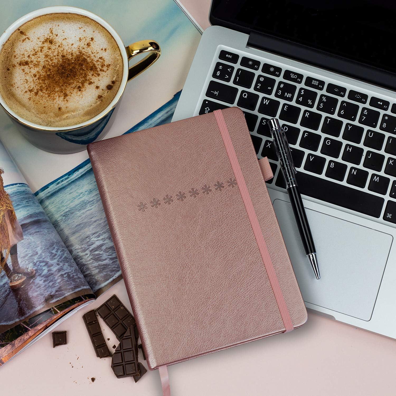 Medium Size 5.3x7.7 Journal Notebook for Password Organization /& Saving Website Logins Internet Address /& Password Keeper Logbook Legend Planner Password Book with Alphabetical tabs Rose Gold