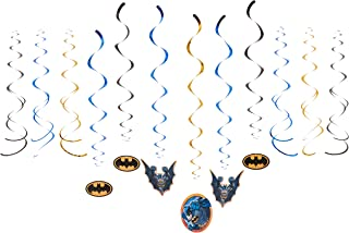 American Greetings Batman Party Supplies Hanging Swirl Decorations, 12-Count