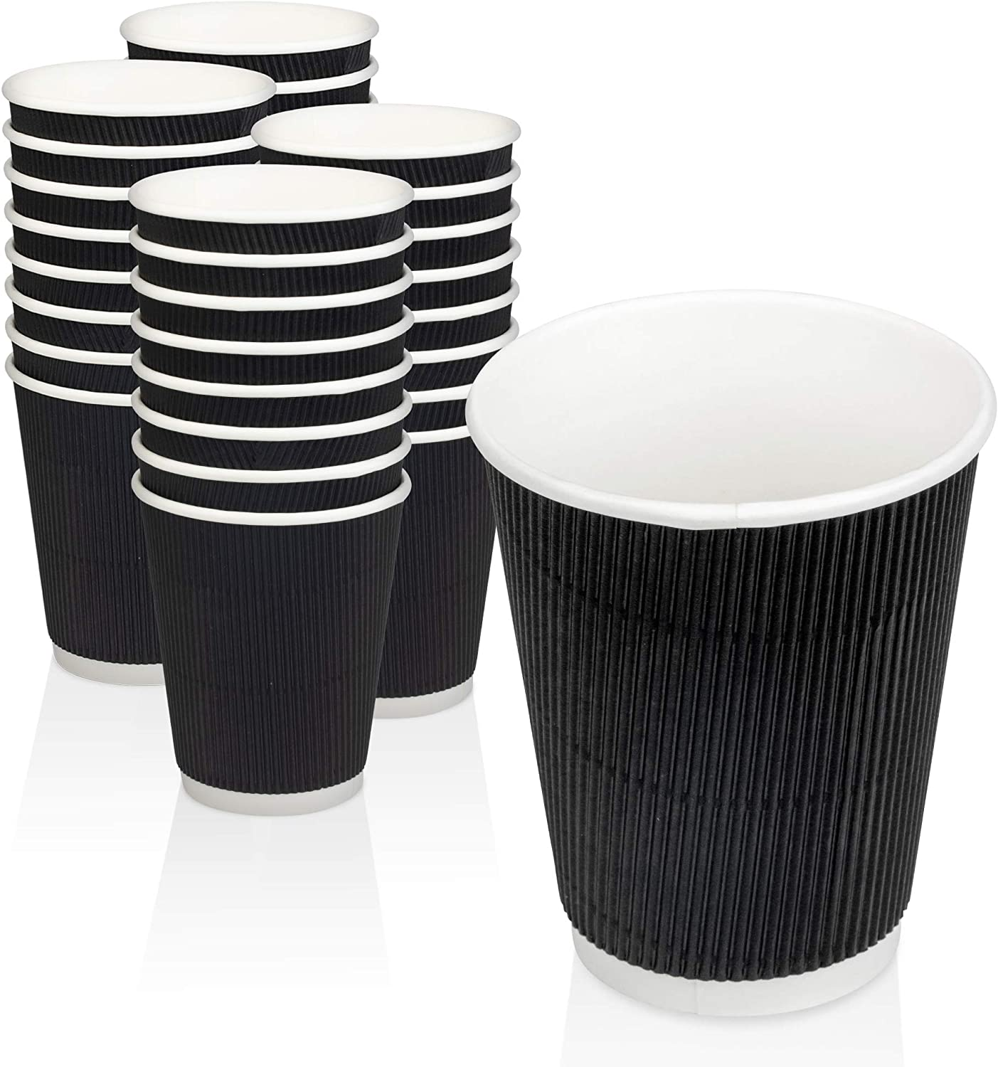 500 Pack Some reservation Disposable Hot Cups - Insulated Double Wall 8oz Black Free Shipping Cheap Bargain Gift