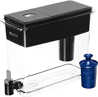 Brita Longlast UltraMax Water Filter Dispenser, Jet Black, Extra Large 18 Cup, Water..