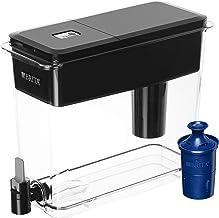 بریتا فوق العاده بزرگ 18 فنجان آب تصفیه شده با 1 فیلتر Longlast، کاهش سرب، BPA رایگان - Ultramax، جت سیاه