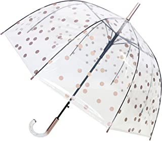 SMATI Parapluie Long - Transparent – Forme Cloche - Ouverture Automatique - 8 Baleines en Fibre de Verre - Anti-Vent - Ext...