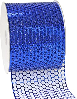 "Morex Ribbon 288 Chicago Polypropylene Ribbon, 3.25"" by 55 Yds, Royal Blue"