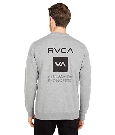 RVCA Sport Graphic Pullover Hoodie (Heather Grey) Men