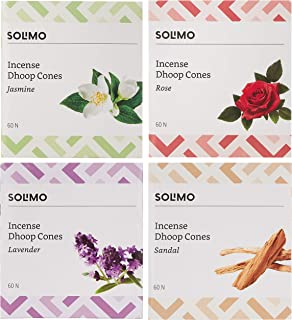 Amazon Brand - Solimo Incense Dhoop Cones, Assorted, 240 Pieces