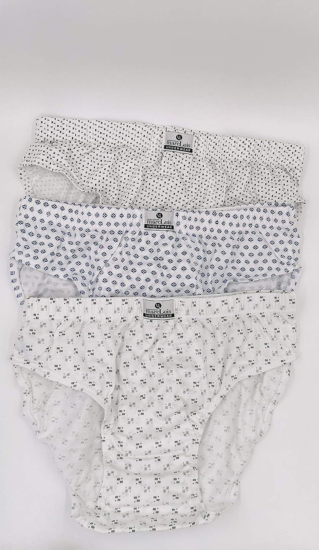 MARC LUIS Slip Uomo Cotone Mutande Uomo 100/% Cotone Made in Italy 6 Pezzi