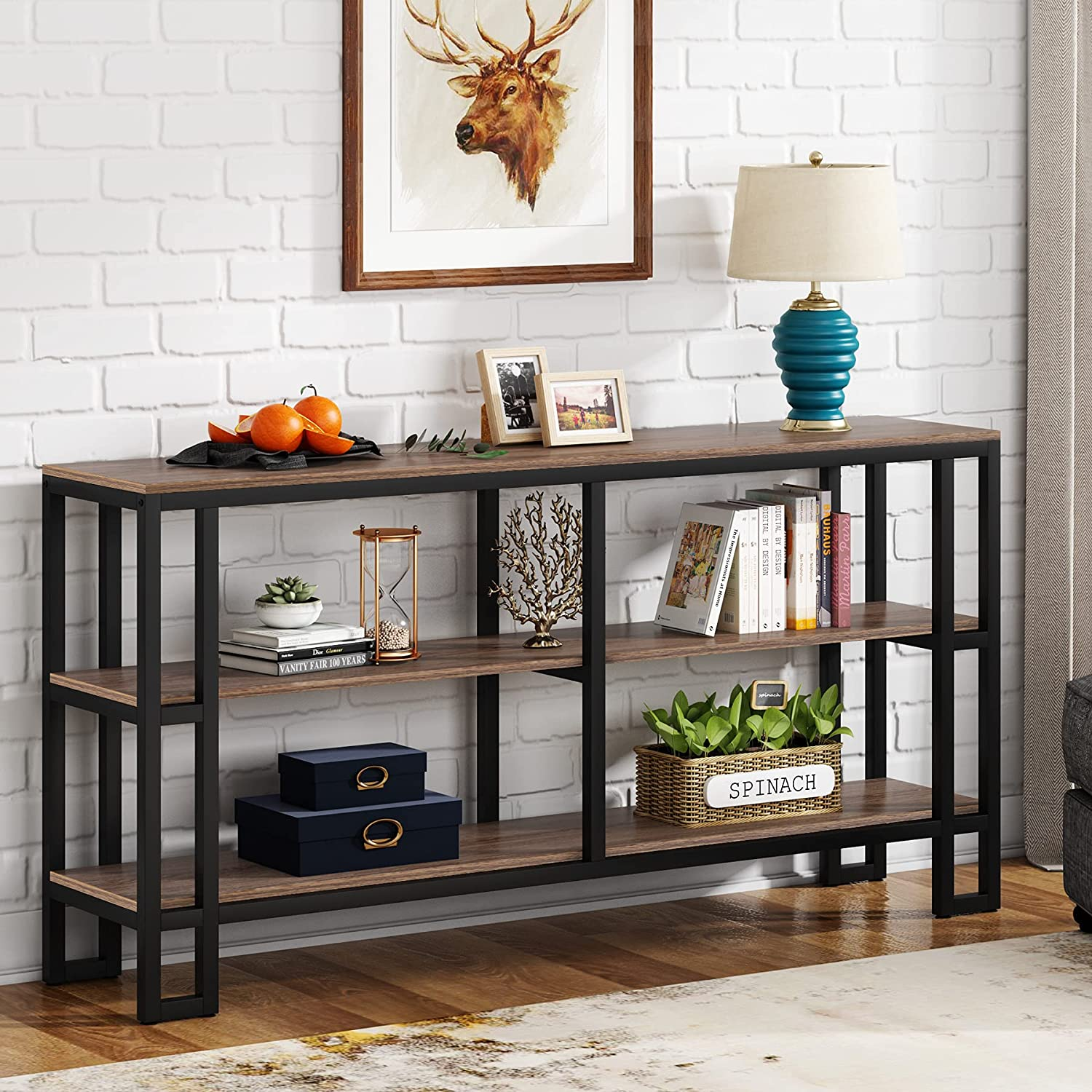 Buy Tribesigns Sofa Table,20.20 inch Long Console Table with 20 Tier ...