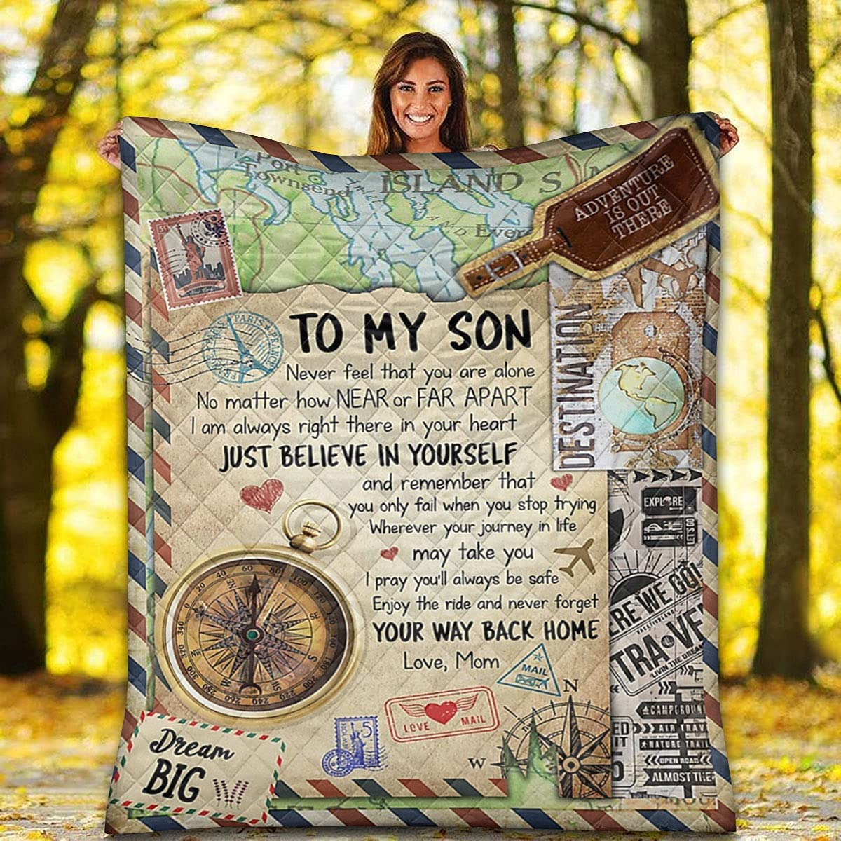 Love Airmail High order Quilt - Best Gift Son i Believe for NEW before selling Just My