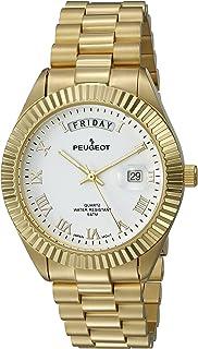 ساعة رجالي من بيجو '14K مطلية بالكامل، اللون ذهبي، اللون (الموديل: 1029WT)