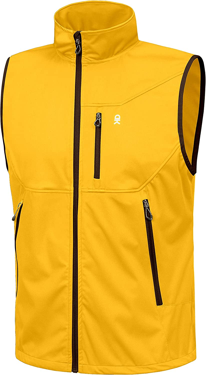 Little Donkey Andy Men's Lightweight Vest S New Orleans Mall Softshell Max 63% OFF Windproof