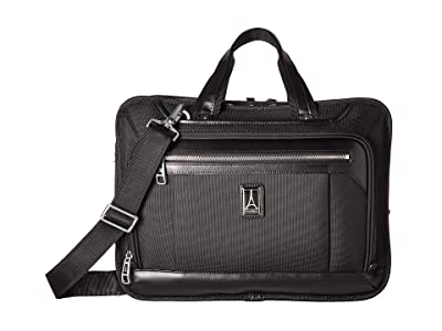 Travelpro Platinum(r) Elite Expandable Business Brief (Shadow Black) Briefcase Bags