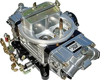 Proform 67208 Street Series 750 CFM Polished Aluminum Dual Inlet 4-Barrel Square Bore Vacuum Secondary Carburetor with Electric Choke