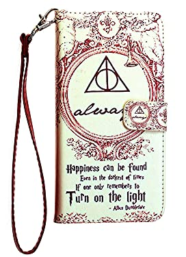 Harry Potter Always iPhone Xs MAX Wallet Case, IMAGITOUCH Folio Flip PU Leather Wallet Case with Kickstand Wrist Strap and Card Slots for iPhone Xs MAX - Harry Potter Dumbledore Always Wallet