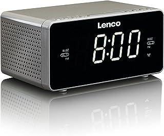 Lenco CR-530 Clock Radio with RCC and PLL FM 1.2-Inch LED Screen