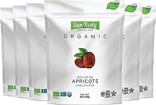 Sun Tasty Organic Sun-Dried Apricots 2.25 lbs. Vegan, Gluten-Free, USDA Certified Organic, Non-GMO, No Added Sugar, No Sul...