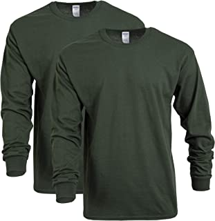 Gildan Mens G5400 Heavy Cotton Long Sleeve T-Shirt, 2-Pack Long Sleeve Shirt