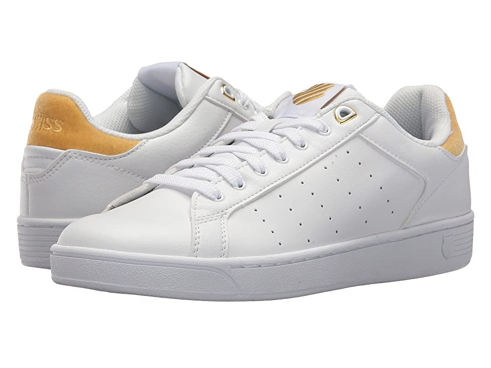 K-Swiss Clean Court CMF (White/Bright Gold) Women