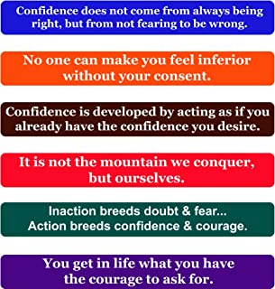 Self-Confidence Quotes Fridge Magnets- Inspirational Words & Motivational Quotes Magnet Set –The Perfect Gift to Inspire Belief in Oneself, Set of 6 Individual Quote Magnets by Home & Beyond