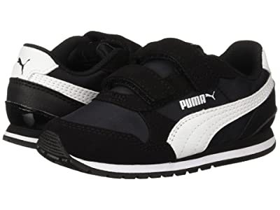 Puma Kids ST Runner v2 NL V (Toddler) (Puma Black/Puma White) Boys Shoes