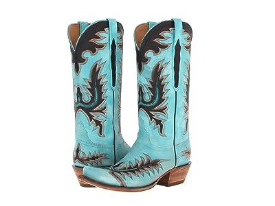 Lucchese L4727.S54 (Mayela Stitch Destroyed Emareld Blue) Cowboy Boots