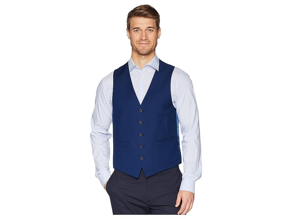 Kenneth Cole Reaction Techni-Cole Stretch Suit Separate Vest (Modern Blue) Men
