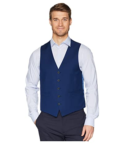 Kenneth Cole Reaction Techni-Cole Stretch Suit Separate Vest (Modern Blue) Men