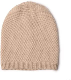 Ellettee 100% Pure Cashmere Slouchy Beanie Womens Knit Caps