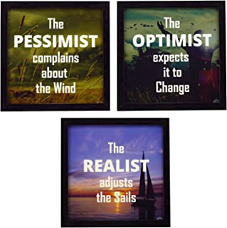 Indianara Framed Wall Hanging Motivational Quotes Art Prints 9.5 inch X 9.5 inch Without Glass