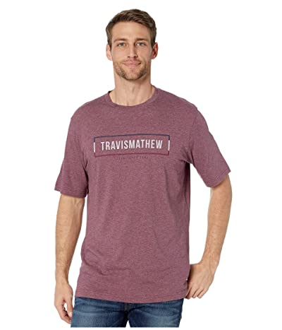 TravisMathew Biblioteca T-Shirt (Heather Tawny Port) Men