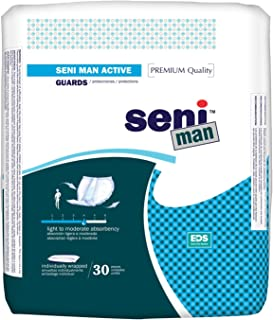 Seni Man Incontinence Guards, Moderate, Active, 30 Count (Pack of 12)