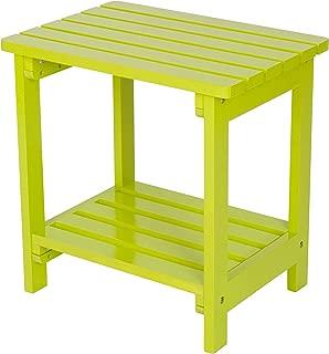 Shine Company Inc. 4104LG Rectangular Side Table, Lime Green