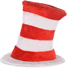 Costumes USA Dr. Seuss Plush Cat in the Hat Top Hat for Adults, Halloween Accessories, 12 1/2