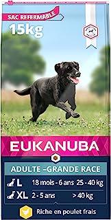 Eukanuba - Croquettes Premium Chiens Adultes Grandes Races - 100% Complète et Equilibrée - Riche en Poulet Frais - Sans Pr...
