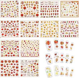 12 Blätter Nagel Aufkleber Herbst Blätter Nagel Abziehbild