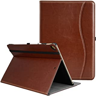 Ztotop Case for iPad Pro 12.9 Inch 2017/2015 (Old Model,1st & 2nd Gen), Premium Leather Business Folding Stand Folio Cover with Auto Wake/Sleep and Document Card Slots, Multiple Viewing Angles, Brown